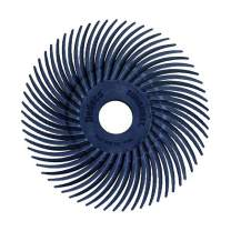 Dedeco Sunburst - 2 Inch TC Radial Bristle Discs - 3/8 Inch Arbor - Industrial Thermoplastic Rotary Cleaning and Polishing Tool, Fine 400 Grit (12 Pack)