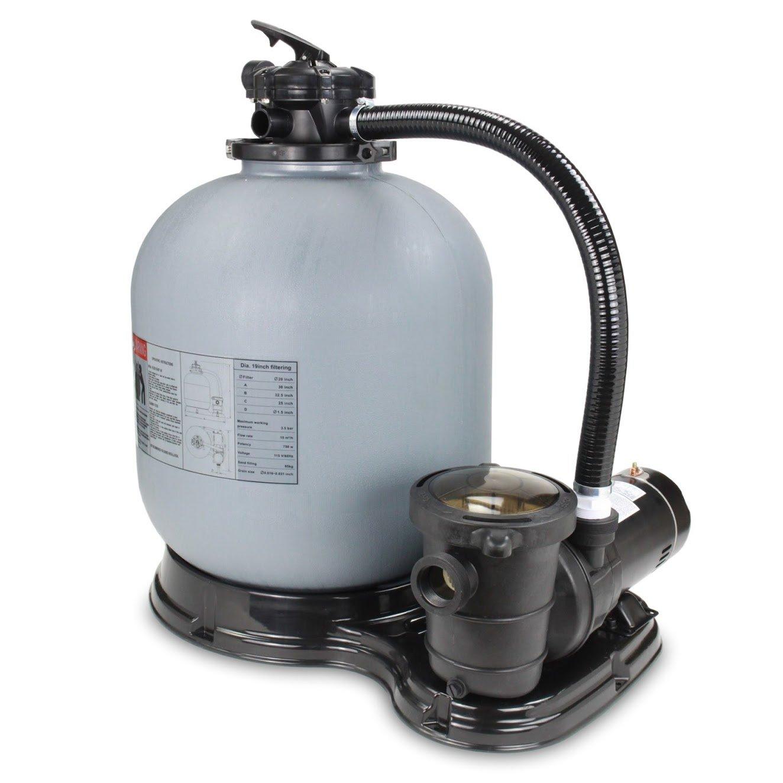 "PURELINE 19"" Above Ground Pool Sand Filter System W/ 1 H.P Pump (1.5 Horsepower)"