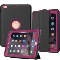 SEYMAC iPad 9.7 (2017/2018) Case,Three Layer Drop Protection Shockproof Smart Cover with Auto Sleep Wake Function Compatible for iPad 5th /6th Generation (a1822,a1823) (Rose)