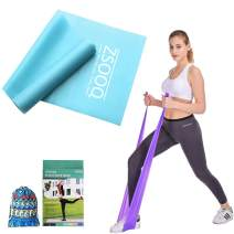 ZSOOQ Resistance Bands for Legs and Butt Exercise Bands Latex Exercise Bands Exercise Strength Training Physical Therapy Yoga Pilates Long Exercise Bands for Workout Stretching