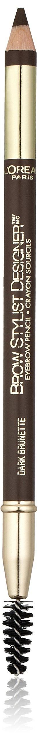 L'Oreal Paris Brow Stylist Designer Eyebrow Pencil, Dark Brunette [315] 0.045 oz