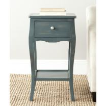 Safavieh American Homes Collection Thelma End Table, Steel Teal