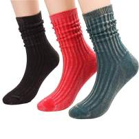 CHOEES Womens Soft Comfortable Mid-Weight Socks Crew Casual Sock (Pack of 3-5 Pairs | Size 5.5-10)