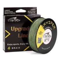 SKYSPER Upgraded Braided Fishing Line 20LB 30LB 60LB 80LB 100LB 547 Yard 1093 Yard PE 4/8 Strands Super Strong Fishing Line - Abrasion Resistant, Low Memory, Zero Stretch