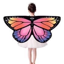 Giovacker Children Dreamy Dress-Ups Monarch Butterfly Wings Shawl Cape Nymph Pixie Halloween Costume