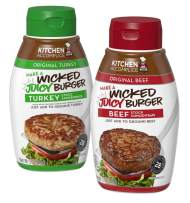 Kitchen Accomplice Wicked Juicy Burger, Beef & Turkey, 12 Ounce (Pack Of 2)
