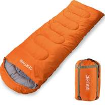 CERTAMI Sleeping Bag for Adults, Girls & Boys, Lightweight Waterproof Compact, Great for 4 Season Warm & Cold Weather, Perfect for Outdoor Backpacking, Camping, Hiking