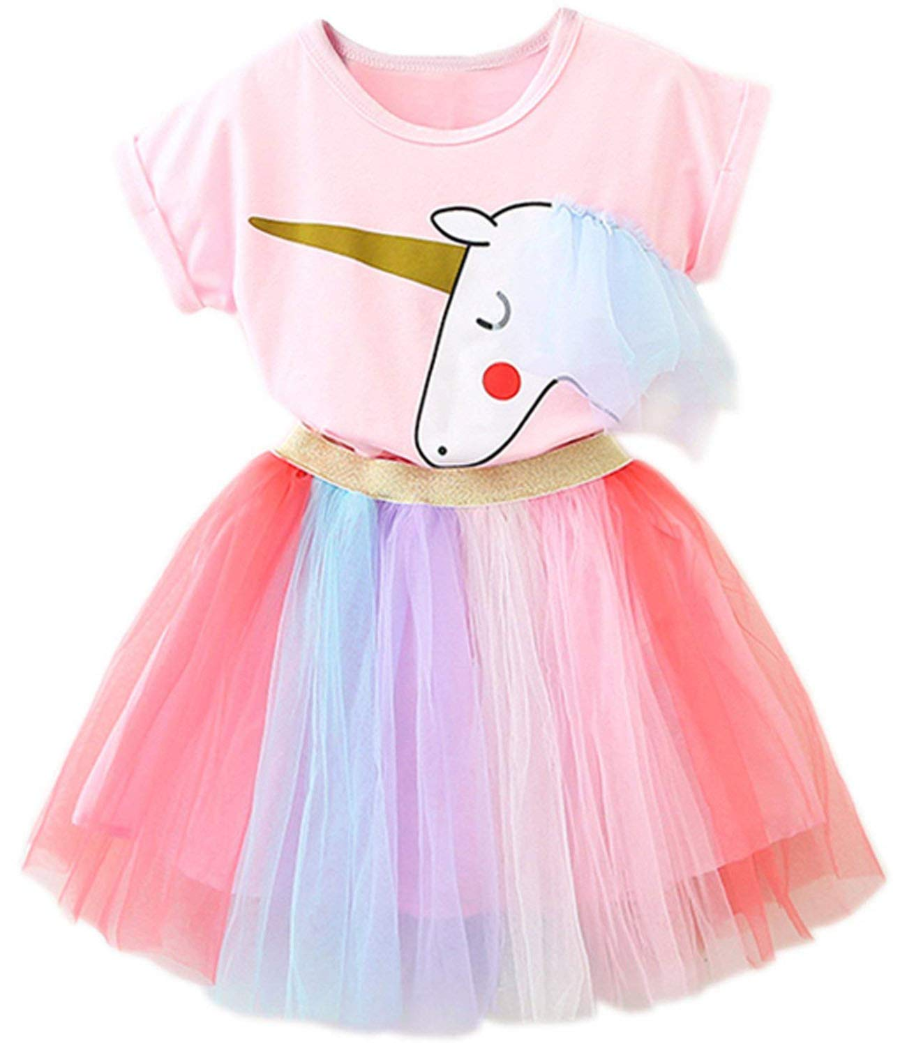 TTYAOVO Little Girls Casual Holiday Dress 1-7 Years