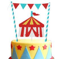 Vintage Circus Cake Topper Circus Tent Big Top Cake Topper for Kids Birthday Baby Shower Party Decoration