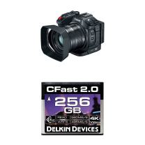 Canon XC15 4K UHD Professional Camcorder with Delkin 256GB Cinema CFast 2.0 Memory Card