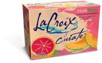 LaCroix Cúrate Melon-Pomelo Sparkling Water, Melon-Pink Grapefruit, 12oz Slim Cans, 8 Pack, Naturally Essenced, 0 Calories, 0 Sweeteners, 0 Sodium