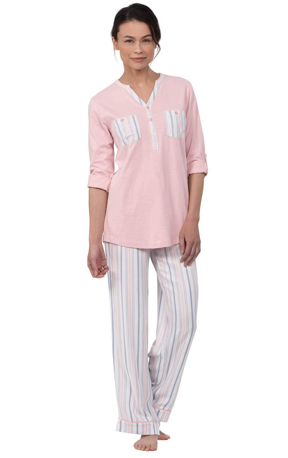 PajamaGram Soft Pajamas for Women - Pajama for Women, Pink Stripe