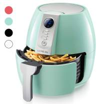 Ultrean Air Fryer, 4.2 Quart (4 Liter) Electric Hot Air Fryers Oven Oilless Cooker with LCD Digital Screen and Nonstick Frying Pot,UL Certified,1-Year Warranty,1500W (Blue)