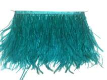 KOLIGHT Pack of 5 Yards Natural Dyed Ostrich Feathers Trim Fringe 4~5inch for DIY Dress Sewing Crafts Costumes Decoration (Teal)