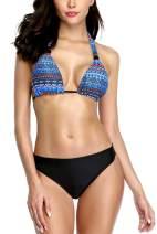 belamo Women Halter Bikini Set Push up Two Piece Swimsuits 2 Pieces Bathing Suit
