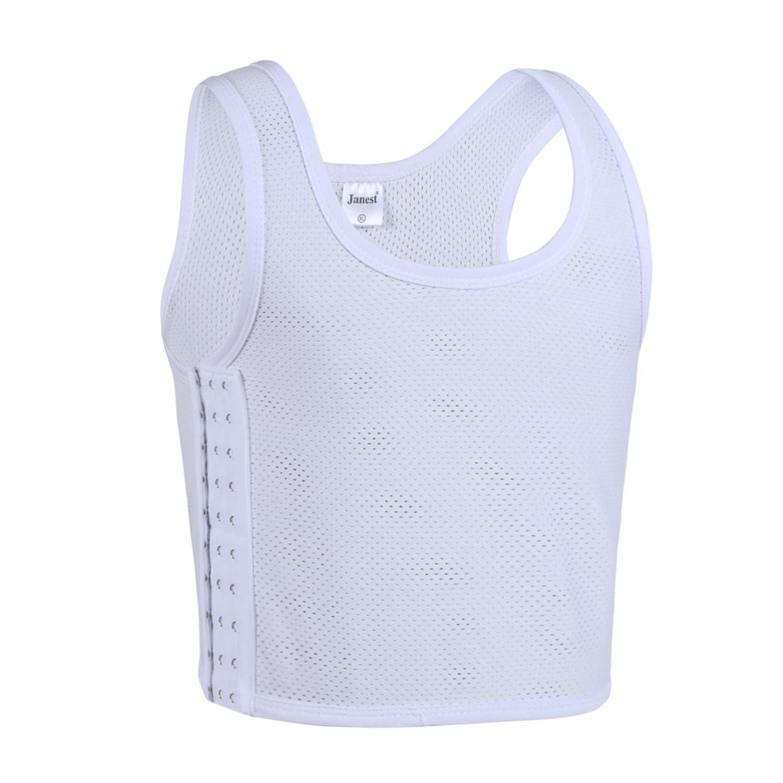JARAZIN Women Hook Mesh Strap Breathable Chest Binder for Tomboy Lesbian Transgender Vest Tank Top