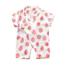 YOUNGER TREE Kimono Newborn Cotton Yarn Robe Infant Baby Japanese Pajamas Romper Summer One Piece Jumpsuit Clothes