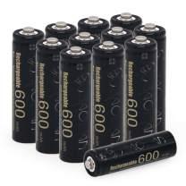 BAOBIAN AA 600mAh 1.2V Ni-CD Rechargeable Batteries for Outdoor Solar Lights Solar Lamp(12 PCS)