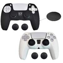 2 Pack PS5 Controller Grip Cover Skins Silicone Case Dualsense Controller Skin