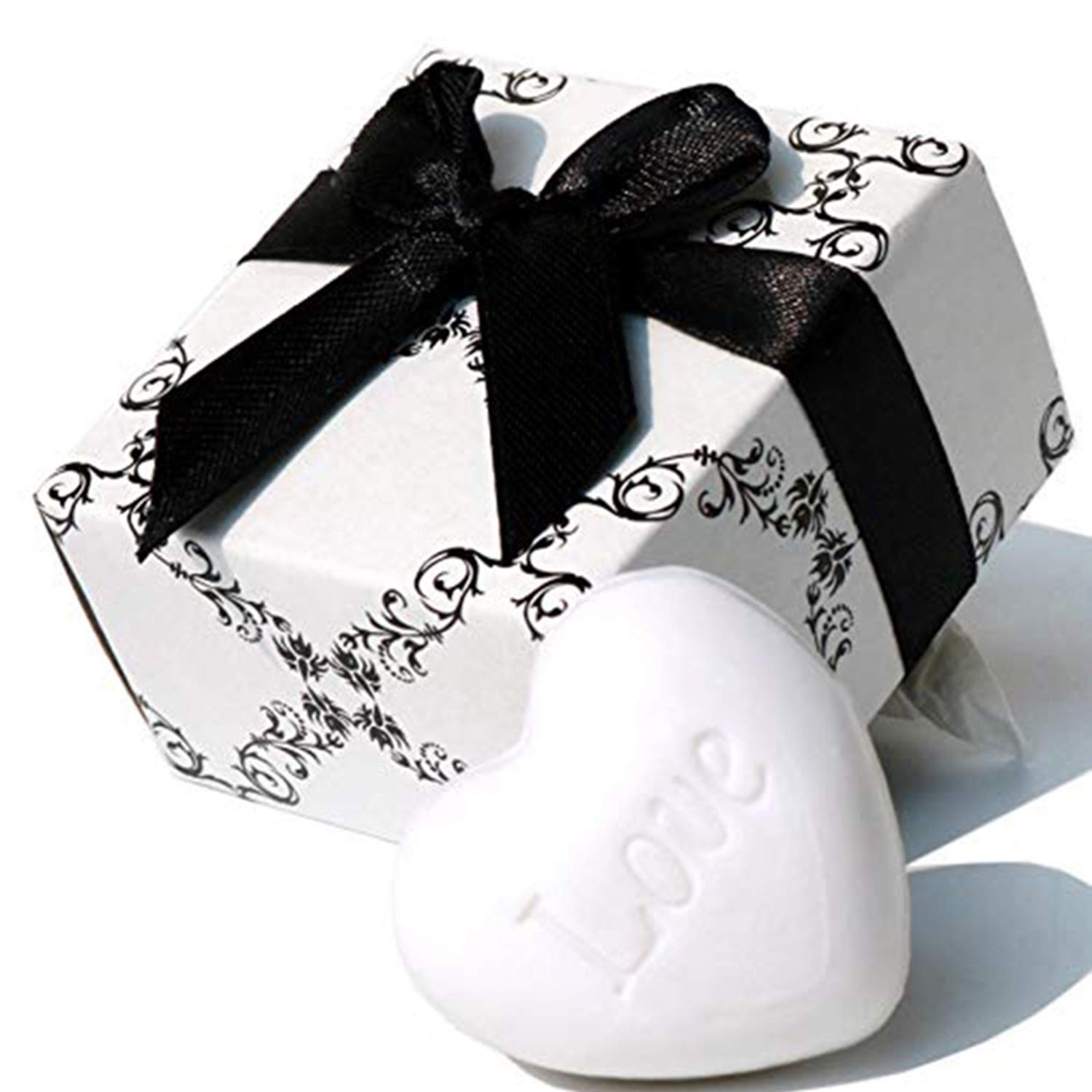 AiXiAng Cute Mini 24 Pack Heart Shape Soap Favors for Wedding Favors and Gifts or Baby Shower Soap Favors, Bridal Shower Favors, Housewarming Gifts, Heart Themed Party Table Decorations, Return Gifts, Mothers Day Gifts Soaps