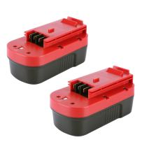 Biswaye 2 Pack 18V NI-CD Battery for Black & Decker HPB18-OPE 18-Volt Slide Pack Battery and 18-Volt Outdoor Cordless Power Tools