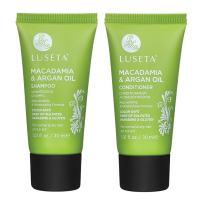 Luseta Macadamia & Argan Oil Shampoo & Conditioner, Travel Kit, 2 x 1.01oz