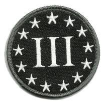 """3"""" Circle Three Percenter Tactical - Black"""