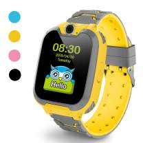 Kids Smart Watch for Boys Girls - Kids Watches with Games - 1.44'' HD Touch Screen for Children with SOS Call Camera Music Player Game Alarm (Yellow