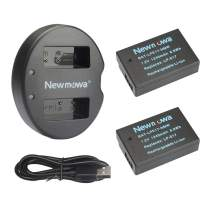 Newmowa LP-E17 Replacement Battery (2 Pack) and Dual USB Charger Kit for Canon EOS M3 M5 M6 M6 Mark II 200D 250D 750D 760D 800D Rebel SL3 T6i T6s 8000D Kiss X8i Digital Cameras