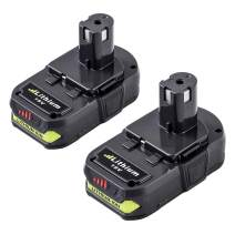 2 Packs 18 Volt 3.0Ah P102 Battery Replacement for Ryobi 18V Battery Lithium One+ P103 P104 P105 P107 P108 P190 P122