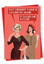 NobleWorks - Calling My Name - Funny Merry Christmas Greeting Card with Envelope - Adult Woman Humor, Bluntcard C2934XSG