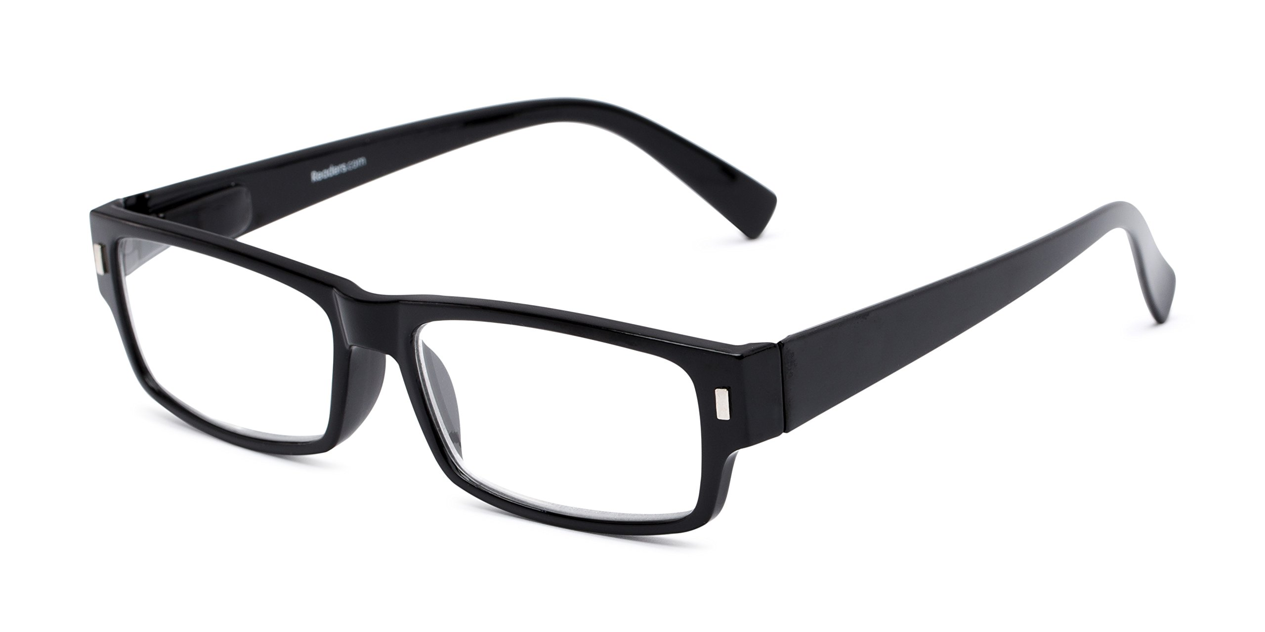 Readers.com Reading Glasses: The Althorpe Reader, Plastic Rectangle Style for Men and Women