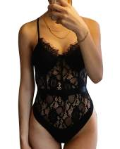 Sexy Lace Bodysuit for Women Teddy Lingerie One Piece Babydoll