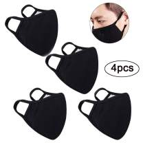 SAICANA Baby Grils' Outfit Unisex Reusable Face Cover, Anti Dust Soft Cotton Mouth Cover Washable Breathable Personal Health Protective Covers (4 Pcs)