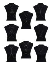 FIBO STEEL Body Chain Jewelry for Women Bikini Belly Chain Necklace Gold-Tone