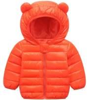 ARTMINE Baby Boys & Girls Down Alternative Winter Warm Hoodie Jacket, 12M - 4Y