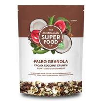 The Australian Superfood Co Gluten Free Granola Paleo Cereal Grain Free, Cacao & Coconut Crunch Brown