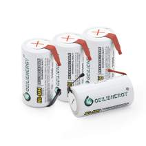 QBLPOWER Sub C Subc Rechargeable Battery with Tabs for Power Tools 3300mAh NiMH (4 Pcs)