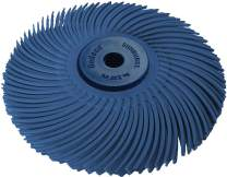 """Dedeco Sunburst - 3"""" TC 3-PLY Radial Bristle Discs - 1/4"""" Arbor - Industrial Thermoplastic Rotary Cleaning and Polishing Tool, Fine 400 Grit (1 Pack)"""