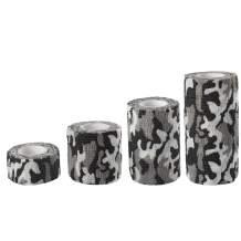 Andux Land Self-Adhesive Bandage 4 Rolls Cohesive Wrap Bandaging Tape ZZTXBD-04 (Black White Camouflage)