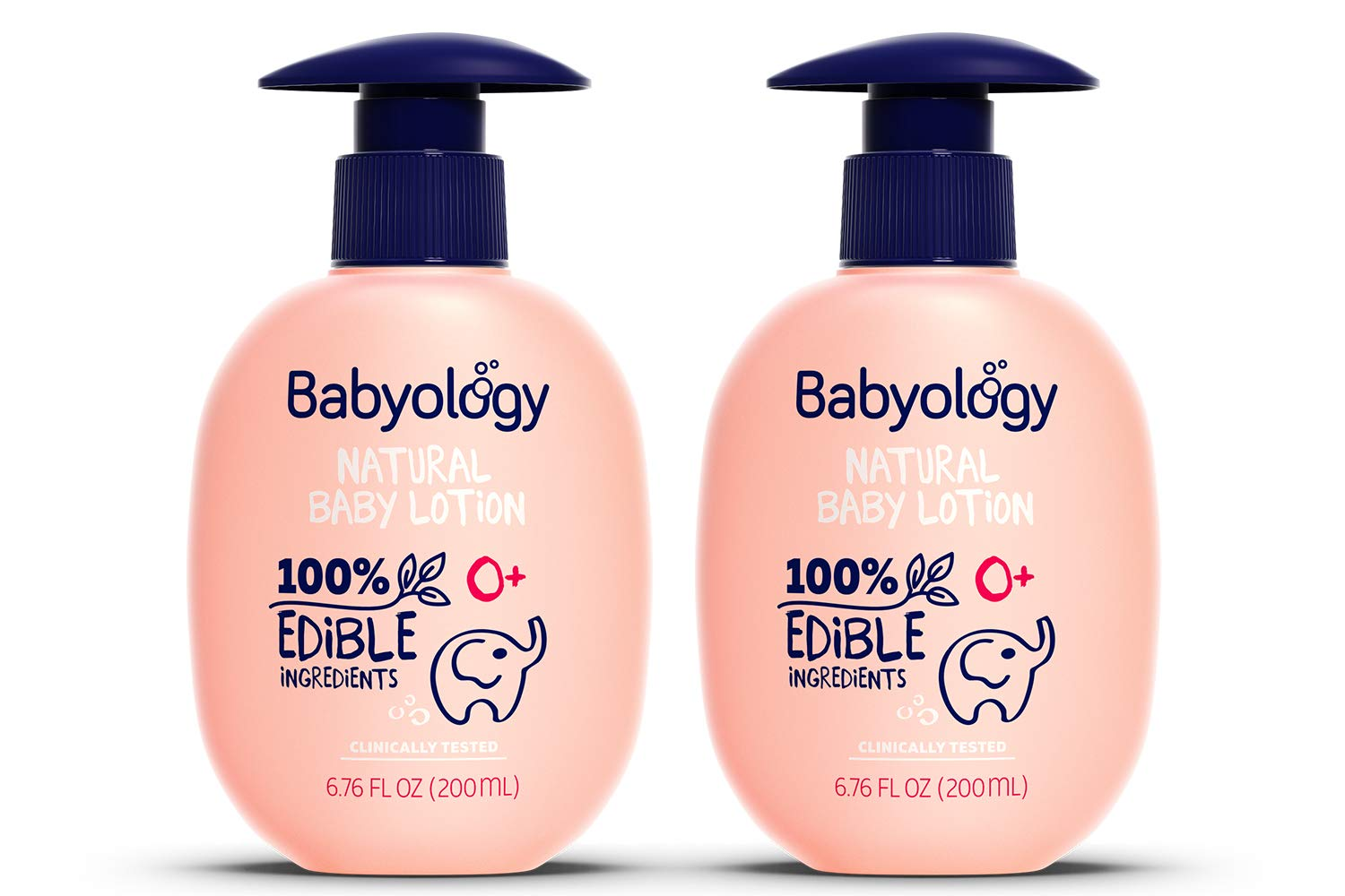 Babyology - Organic Baby Lotion - 100% Edible Ingredients - 6,76 FL. OZ - The Safest All Natural Baby Moisturizer for Newborn Dry and Sensitive Skin - Non Toxic - Eczema (2 Pack)