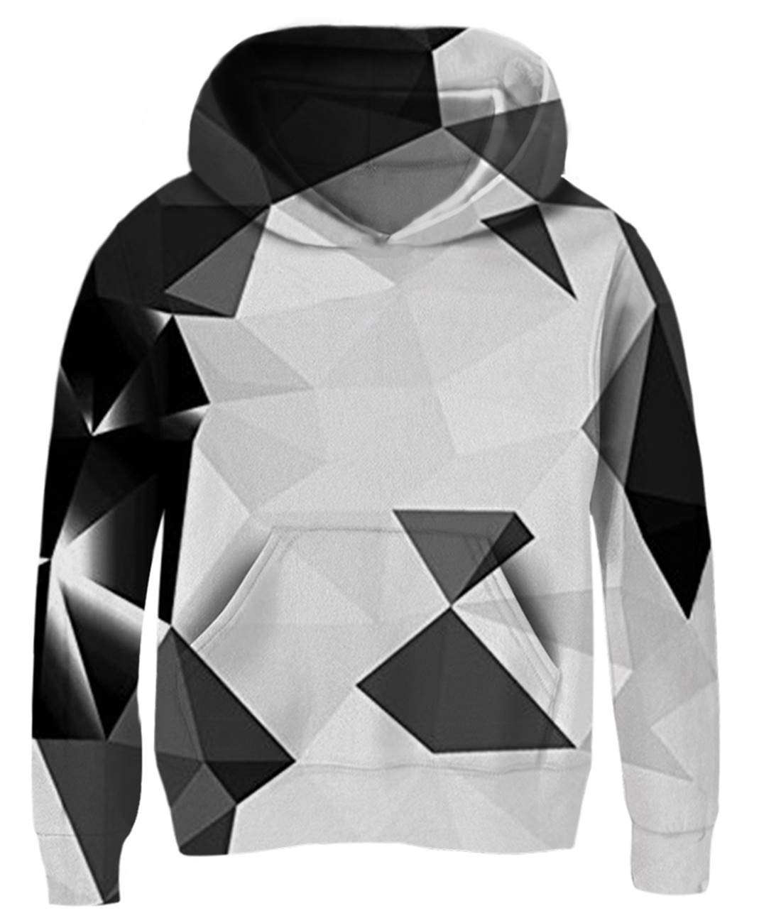 Idgreatim Boys Girls Novetly Hoodies 3D Print Pullover Hooded Sweatshirts with Pockets 5-13 Years