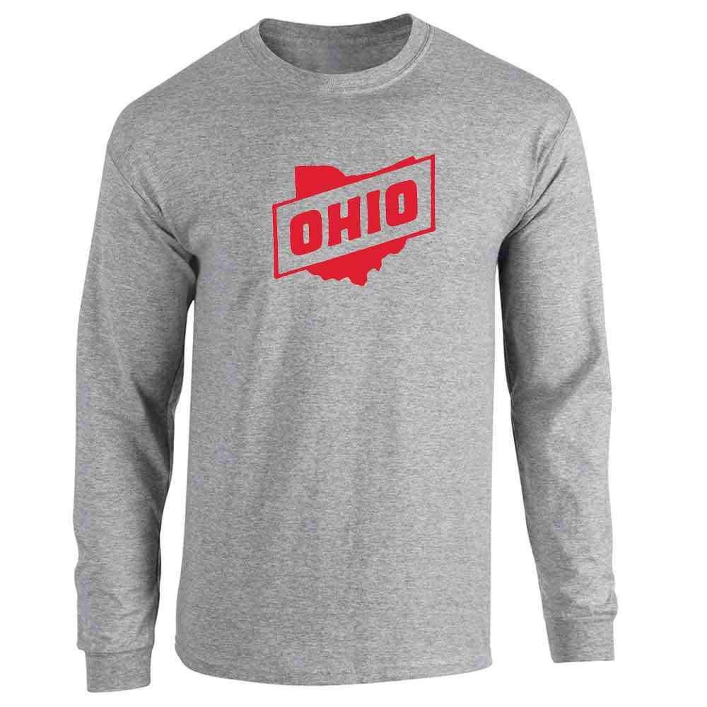 Ohio Retro Vintage State Travel Full Long Sleeve Tee T-Shirt