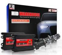 HID-Warehouse 55W AC Xenon Bundle with Slim AC Ballast (1 Pair) - Bi-Xenon H4 / 9003 10000K - 10K Dark Blue Xenon Bulbs (1 Pair)