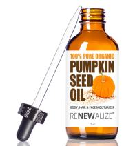 ORGANIC PUMPKIN SEED OIL NATURAL FACE MOISTURIZER - Unrefined, Cold Pressed facial oils anti aging treatment for men and women | For Normal Combination and Mature Skin Types