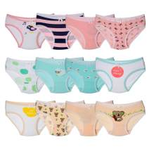 Closecret Toddler Soft Cotton Underwear Baby Panties Little Girls' 12-Pack Assorted Briefs