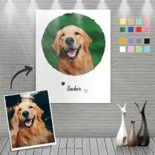 VEELU Custom Canvas Prints with Your Photos Pets Portraits Name - Personalized Photo On Canvas Painting Wall Art Digitally Printed Keepsake Gift for Wedding Gifts Home Decoration Family Love Friends