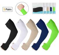 SHINYMOD Arm Sleeves,Men Women Warmer(Cooling) Gloves Compression UV Protective UPF 50 Sports Running Golfing Cycling Working Out Basketball Football Tatoo Arm Covers.
