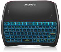 2.4GHz Mini Wireless Keyboard with Touchpad, ANEWKODI Rechargeable Li-ion Battery & Multi-Media Keys Handheld Remote Control Keyboard for Android TV Box, PC, Laptop, Tablets, Smart TV, Xbox, PS3