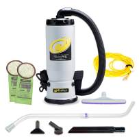 ProTeam Commercial Backpack Vacuum, QuietPro BP Vacuum Backpack with HEPA Media Filtration and Xover Multi-Surface Telescoping Wand Tool Kit, 6 Quart, Corded
